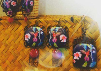 collection asie colibri boucles d'oreilles et sautoir creation merveilles