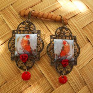 boucles d'oreilles oiseaux boutique merveilles Montpellier