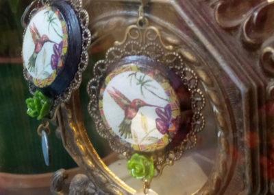 boucles d'oreilles colibris créations de merveilles à montpellier
